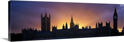 Sunset Houses of Parliament & Big Ben London England