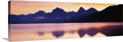 Sunset Lake McDonald Glacier National Park MT