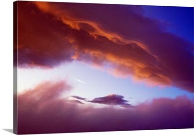 Sunset Light On Clouds