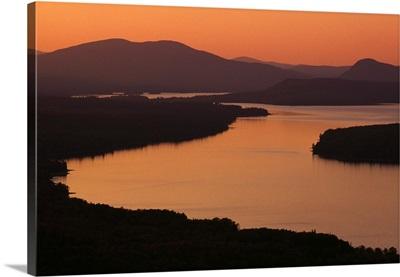 Sunset Light Over Water