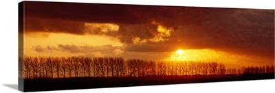 Sunset near Brugge Belgium