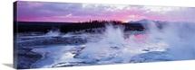 Sunset Norris Geyser Basin WY