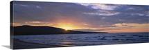 Sunset over a hill, Union Bay, Lake Superior, Upper Peninsula, Michigan