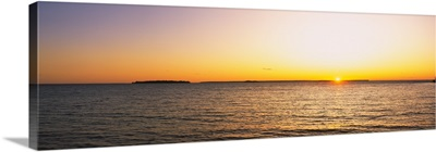 Sunset over a lake, Lake Michigan, Door County, Wisconsin