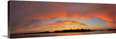 Sunset over a lake, Lake Minnetonka, Minnesota