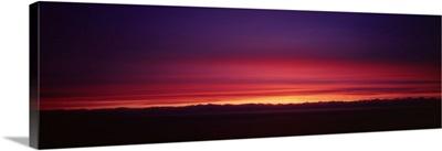 Sunset over a landscape, Big Sur, California