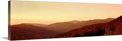 Sunset over a landscape, Kancamagus Highway, New Hampshire