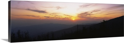 Sunset over a mountain range, Clingmans Dome, Great Smoky Mountains National Park, Tennessee
