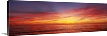 Sunset over a sea, Gulf of Mexico, Venice Beach, Venice, Florida