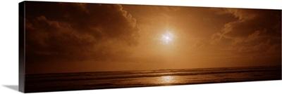 Sunset over an ocean, California