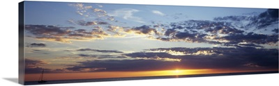 Sunset over an ocean, Gulf of Mexico, Venice, Florida