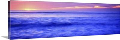 Sunset over an ocean, Pacific Ocean, La Jolla, California