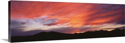 Sunset over Black Hills National Forest Custer Park State Park SD