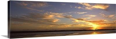 Sunset over lagoon, Pomene, Mozambique