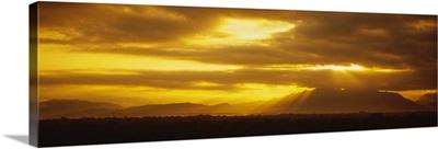 Sunset over mountains, Puerto Vallarta, Mexico