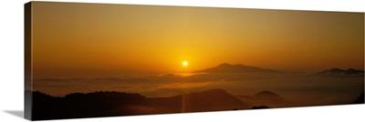 Sunset over Oeyama Mountain, Kyoto, Japan