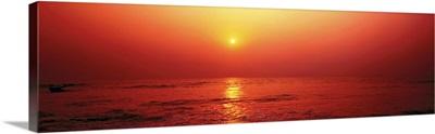Sunset over Sea India