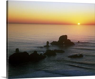 Sunset Over Sea Lion Rock