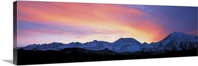 Sunset over Sierra Mountains CA