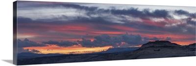 Sunset over slickrock, Grand Staircase-Escalante National Monument, Utah