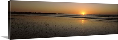Sunset over the Atlantic ocean, Paternoster, Western Cape Province, South Africa