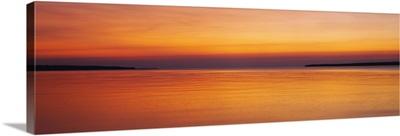Sunset over the lake, Lake Superior, Apostle Islands, Wisconsin