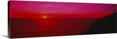 Sunset over the ocean, California