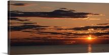 Sunset over the ocean, Jetties Beach, Nantucket, Massachusetts