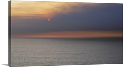 Sunset over the ocean, Montara, San Mateo County, California