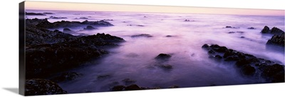 Sunset over the sea, 17-Mile Drive, Monterey Bay, California