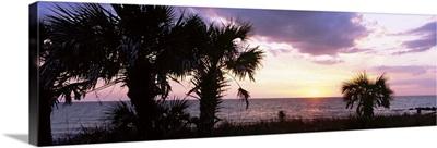 Sunset over the sea, Caspersen Beach, Venice, Sarasota County, Florida