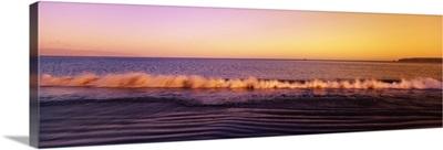 Sunset over the sea, Drakes Beach, Point Reyes National Seashore, California