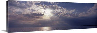 Sunset over the sea, Gulf Of Mexico, Cedar Key, Levy County, Florida