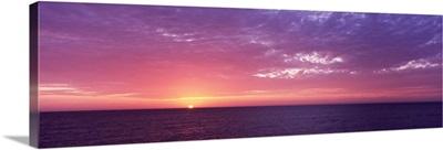 Sunset over the sea, Gulf Of Mexico, Venice Beach, Venice, Sarasota County, Florida