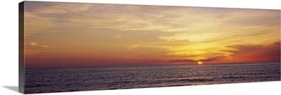 Sunset over the sea, Gulf Of Mexico, Venice, Sarasota County, Florida