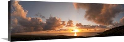 Sunset over the sea, Kona Coast, Kealakekua Bay, Hawaii,