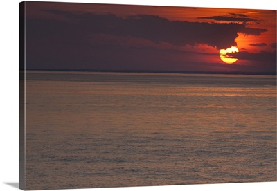 Sunset over the sea, Long Island Sound, Orient Point, Long Island, New York State