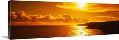 Sunset over the sea, Maui, Maui County, Hawaii