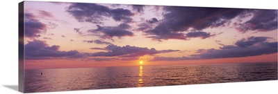 Sunset over the sea, Nokomis Beach, Gulf of Mexico, Florida