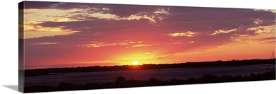Sunset over the sea, Smyrna Dunes Park, New Smyrna Beach, Volusia County, Florida