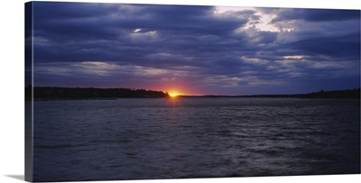 Sunset over the sea, Sweden