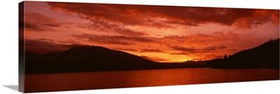 Sunset over Whiskeytown Lake CA