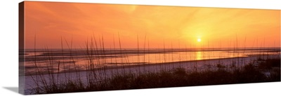 Sunset over Gulf of Mexico Tigertail Public Beach Marco Island Florida