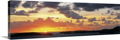 Sunset Pillsbury Sound St John US Virgin Islands