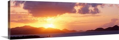 Sunset Pillsbury Sound US Virgin Islands