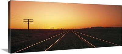 Sunset Railroad Tracks Daggett CA