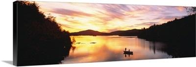 Sunset Saranac Lake Franklin Co Adirondack Mtns NY