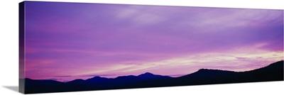 Sunset Sawtooth Mountains Lake Placid NY