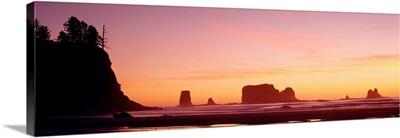 Sunset Sea Stacks Olympic National Park WA