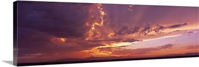 Sunset Sierra Estrella Mnts AZ
